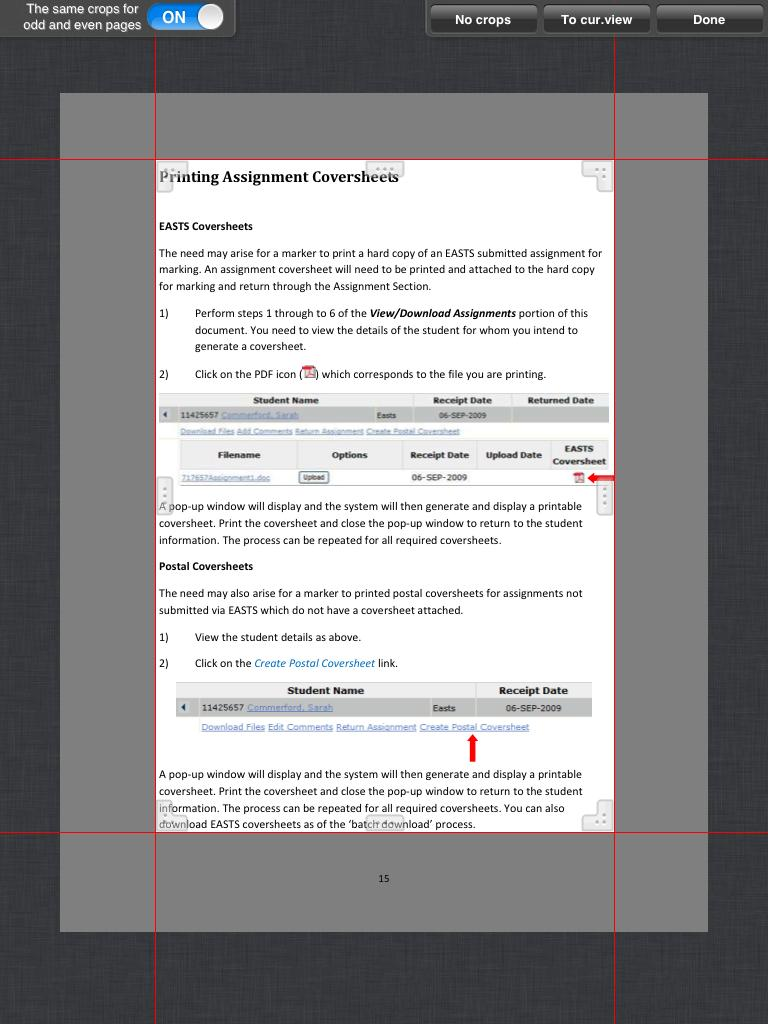 Use this tool to crop out margins so the document s page contents fill the