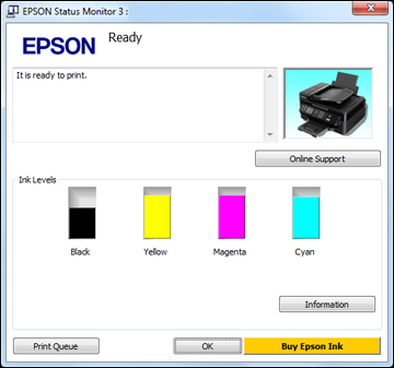 2. Replace or reinstall any ink cartridge indicated on the screen. Note: Depending on the color of the expended cartridge and how you are printing, you may be able to continue printing temporarily.