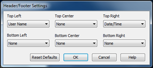 Header/Footer Settings - Windows You can select any of the Header/Footer Settings options to add headers or footers when you print.