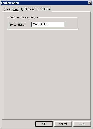 Specify a Temporary VM Mount Location 3. Click the Agent for Virtual Machines tab.