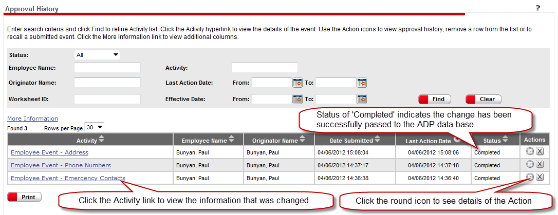 How to View your ipay and Employee Self Service Changes Each time a change made in ipay or ESS is successfully submitted, you will receive an email similar to the one