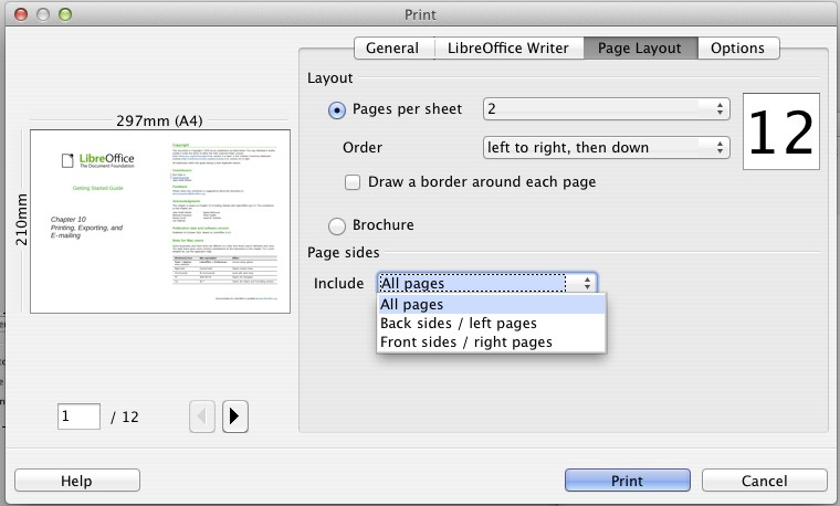 save pdf two pages per sheet