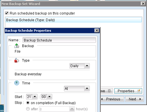 6. Select the files and folders you wish to include with this backup set. 7.