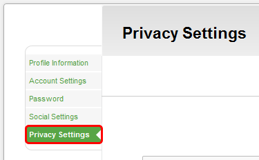 Managing Privacy Settings Privacy Settings are mainly for students to manage their own preferences.