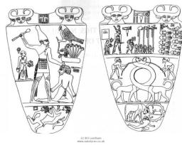 Hedjet - White Crown Pschent - Double Crown Deshret - Red Crown Early Dynastic Period 3000-2647 BCE Narmer unifies Egypt 3000 BCE Palette of King