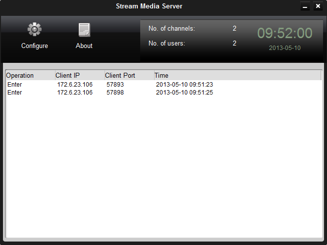 Notes: For one client, up to 16 stream media servers can be added. 8.