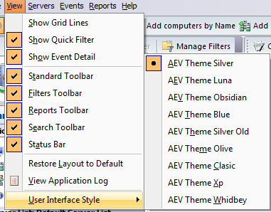 Using Advanced Event Viewer This chapter describes the functionality of Advanced Event Viewer.