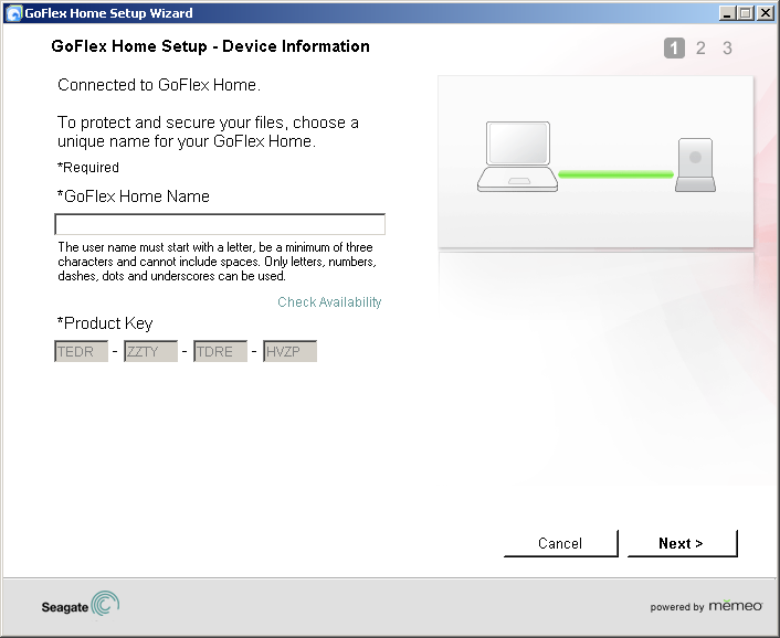 2. Setting Up GoFlex Home Windows Step 3: Installing the Software Step 3: Installing the Software 1. Power on your computer, then insert the GoFlex Home Installation CD.