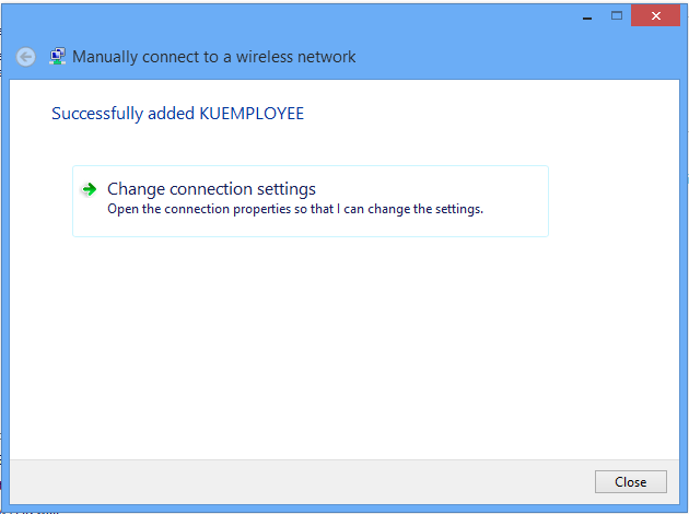8. Select Next in the Manually connect to a wireless network window (Enter information for the wireless network you want to add) 9.