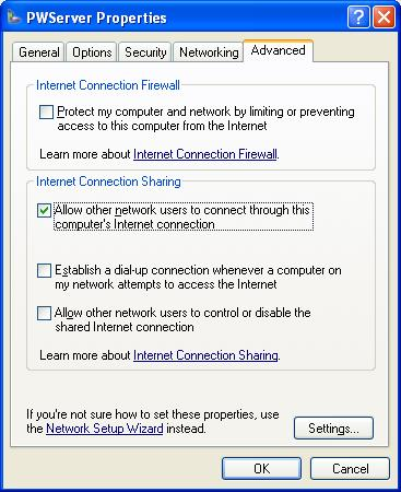 6 If you want others on your network to be able to automatically connect to the Internet, click the Establish a dial-up connection whenever a computer on my network attempts to access the Internet