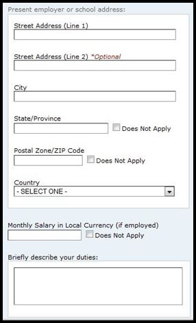 Provide your employer s address and