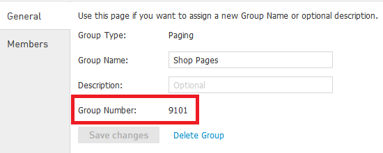 Once finished adding devices to your paging group, the group is ready to use. 8.