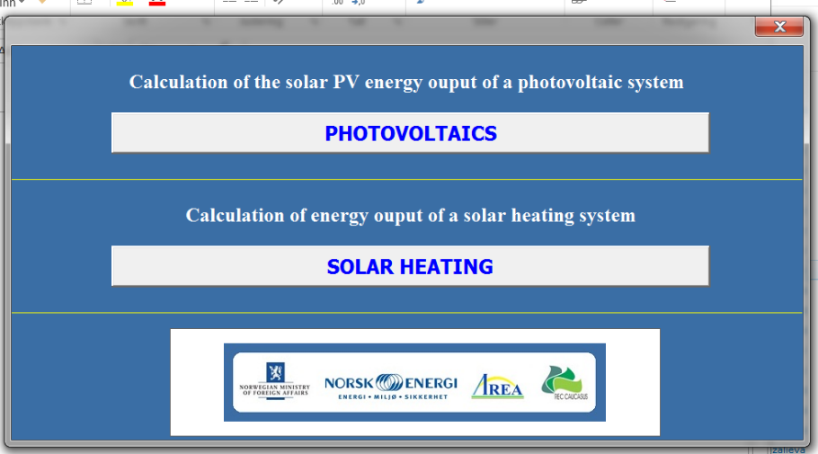 Calculation of solar energy