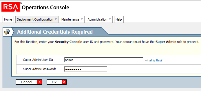 RSA Authentication Manager Configuration 1.
