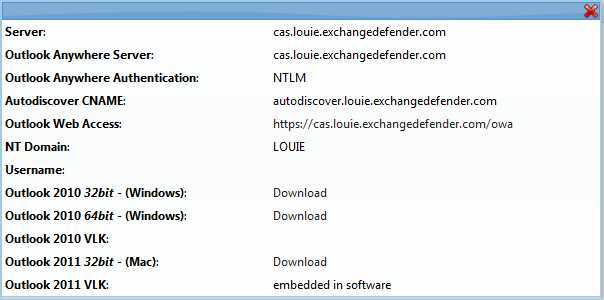 Hosted Exchange Outlook Configuration Exchange 2007/2010 has a lot of useful features that only work with Outlook 2007/2010, one of which is Autodiscover.