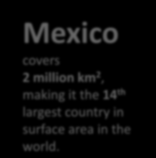 Mexico is a big country Mexico