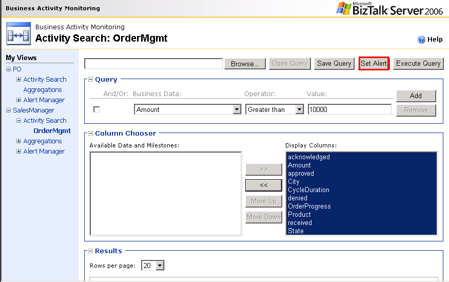 Alerts and Notification Support BizTalk Server 2006 introduces the ability to receive notifications or alerts related to BAM events.