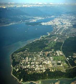 8 UBC Campus The UBC campus is a 20-minute drive from downtown Vancouver The