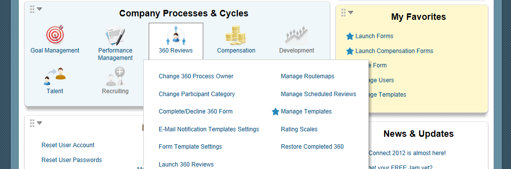 Admin Tools: 60 Reviews 2 60 Reviews If you need to make changes to the 60 review form, go to the 60 Reviews section of Admin Tools.