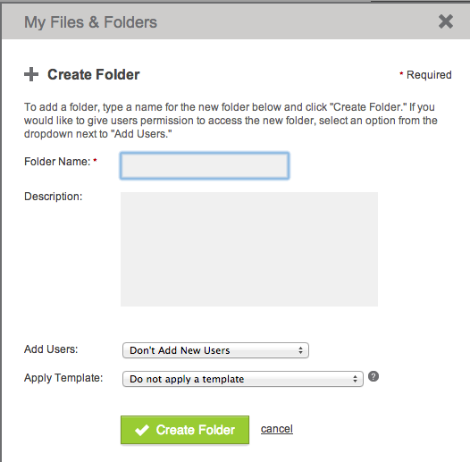 Organize files with quick folder setup You can set up folders to store files on your ShareFile account. Folders allow you to share data within the account.