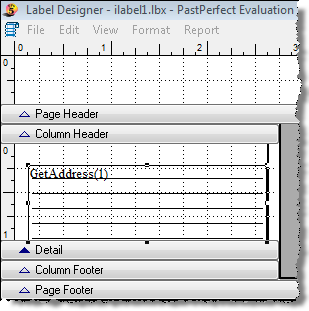 486 PastPerfect Museum Software User s Guide 1. Open the Label Designer screen for Label Style #1, using the steps above. Figure 22-28 Label Designer screen 2.