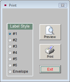 Letters, Labels & Email 495 Figure 22-42 Print/Export screen In the Print/Export Settings area, you may choose to exclude contacts from having labels or envelopes printed for them.
