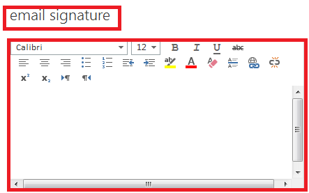 Create an email signature Use the Mail tab to customize the settings for messages. You can do things like set up a signature to be added to the messages you send, or control message tracking.