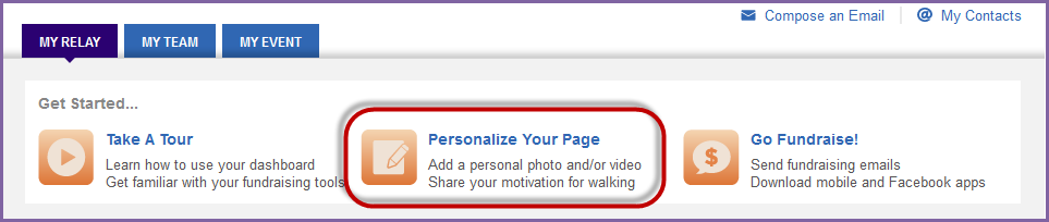 Create a Personal URL 1. Using your username and password, log into your Relay Dashboard. 2.