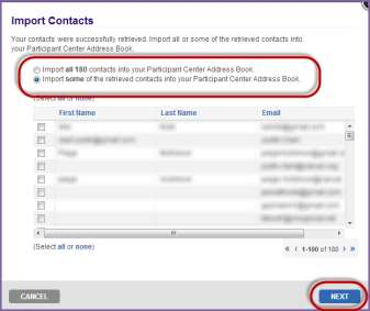 7. Read the consent agreement to allow the Relay Dashboard to access your online address book. Click Next. 8.