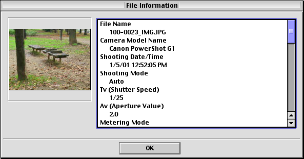 Chapter 3 Managing Images Viewing Image Information You can click images and look at the various shooting information about them. How to view image information In the Browser Area, click an image.