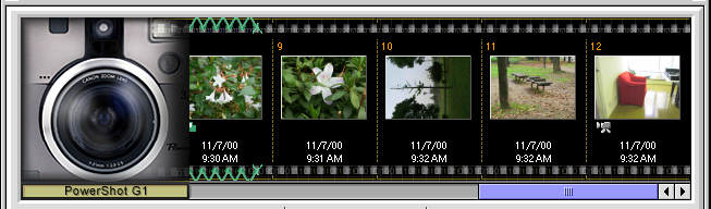 Chapter 5 Using the Camera Window Importing Images (2/2) Other ways of importing images Double-click You can double-click the thumbnail of an image in the Camera Window.
