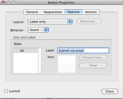 method to compile the form data. In order to do this you have to add a Submit button.