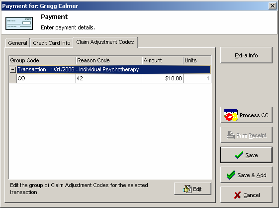 You can also see the associated Claim Adjustment Codes on that tab in the Payment details.