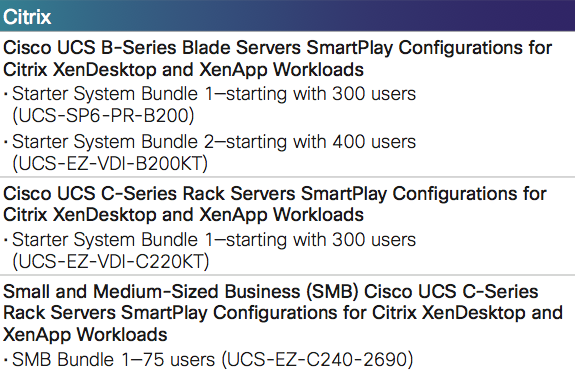 Get Started Now with Cisco Desktop Virtualization Solutions For Citrix XenDesktop and Citrix XenApp Economical Solution Bundles That Deliver Prescriptive, Validated Configurations, Eliminating the