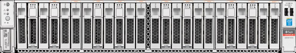 New X5-2 Extreme Flash (EF) Storage Server Industry s Highest I/O rates for OLTP and Analytics dramatically reduce cost per I/O State-of-the-art NVMe based PCIe flash Consistent, extremely low