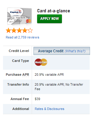 The Online Application should be visible and easily accessible Place Customer Card Ratings on