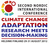 CRES platform 2014 Third Nordic International Conference on Climate Change Adaptation Denmark 2014 (likely Copenhagen) Bring together researchers
