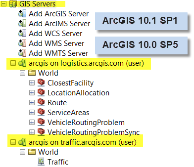 Using services with ArcGIS for Desktop Supported with ArcGIS for Desktop version - 10.0 SP5-10.1 SP1 (10.
