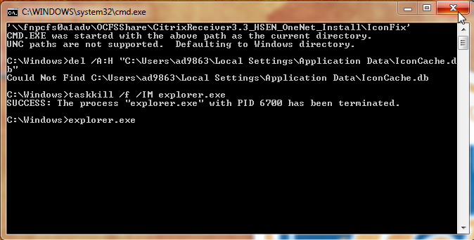 6 P a g e Citrix Receiver 3.3 Truble Shting Icn n Desktp Still ld Blue Icn After the update t Citrix Receiver 3.