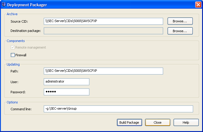 Sophos Endpoint Security and Control 4 Create a Sophos plug-in You create a Sophos plug-in by using Sophos Deployment Packager for Citrix Receiver.