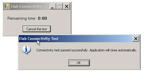 4. Enter the userid elab and the password passw0rd (with a zero). 5. Click the TEST YOUR CONNECTION icon. 6. A Citrix window appears: Citrix Receiver connecting. 7.