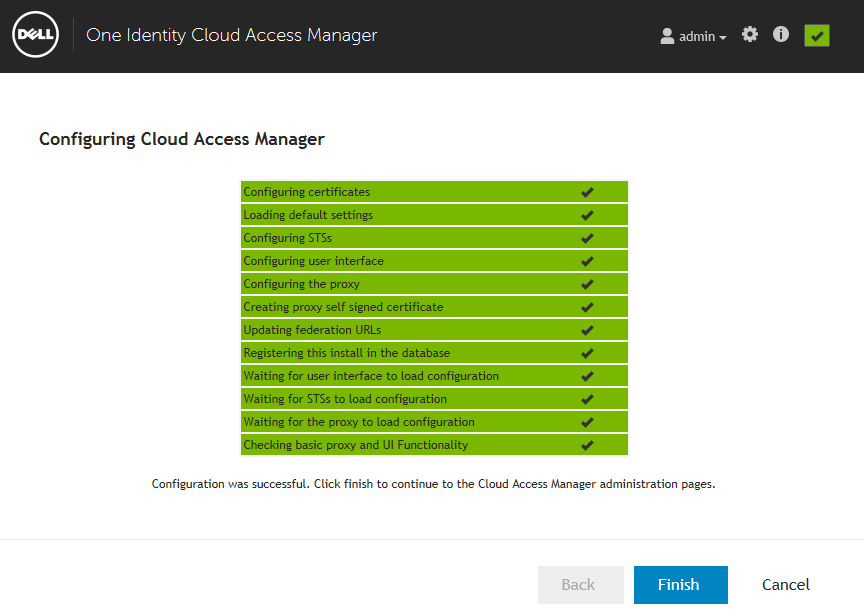 20 Enter a hostname to use for your Cloud Access Manager portal. This should be a hostname within the wildcard DNS subdomain created for the Cloud Access Manager Proxy.