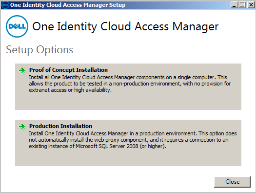 Installing Cloud Access Manager To install Cloud Access Manager 1 On the STS host, either mount the hotfix ISO or extract the hotfix ZIP file to a temporary location.