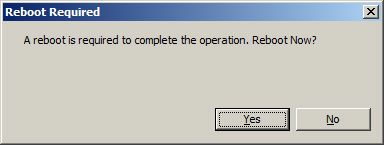 Windows will prompt you to reboot the server. 4.
