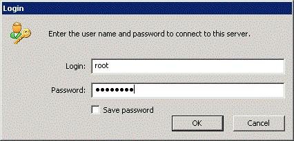 To store password, select the Save password checkbox and click the Yes