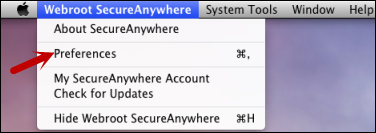 SecureAnywhere for Mac User Guide Defining proxy server settings If you use a proxy server to connect to the Internet, you must define the proxy connection data; otherwise, Webroot cannot send