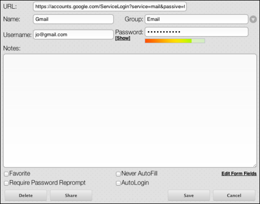 SecureAnywhere for Mac User Guide 2. Edit the profile information. The following table describes the fields in this dialog.
