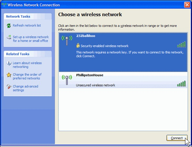 Wireless Set up Help: Windows Q: How do I connect to a Wireless network with Windows XP?