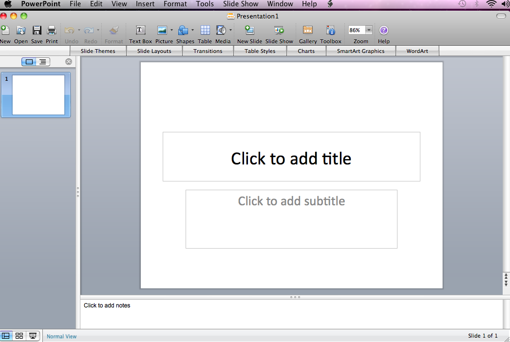 Starting PowerPoint 1.