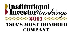 Thank You! No. 1 Overall Best Managed Company in Asia 2014 No. 1 Asia s Best Managed Company 2014 No.